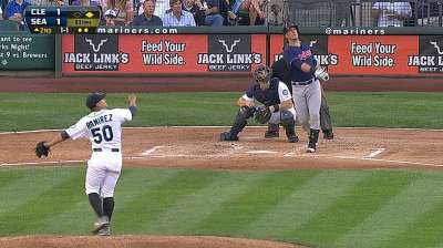 Tribe's pitching, defense labor in loss to M's