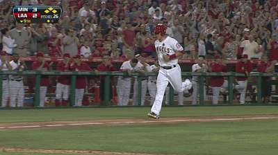 Angels rally vs. Perkins, but fall to Twins in extras