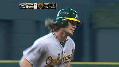 With Jaso on seven-day DL, A's recall Vogt