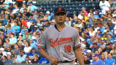 Chen, O's stung by homers in loss to Royals