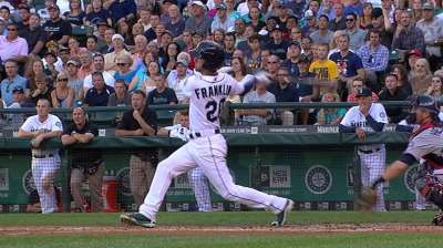 Franklin showing surprising power at second