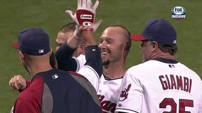 Raburn giving Tribe plenty of pop in limited role