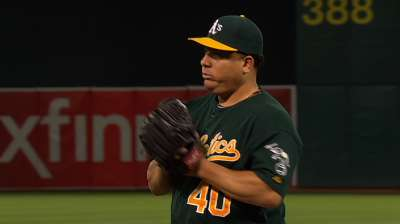 A's all-around efforts secure Colon's 14th win