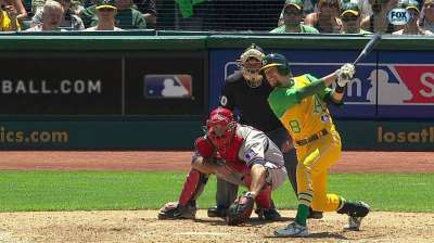 Healthy Lowrie quietly consistent for A's