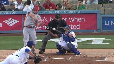 Minus Bruce's homer, Reds silenced by Dodgers' Ryu