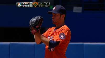 Astros fall on walk-off after Cosart's impressive start