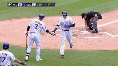 With four homers, Rox claw back twice to clinch series