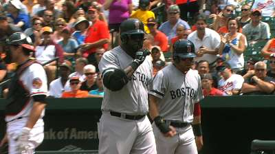 Boston hunde a Baltimore detrás de Ortiz y Lester