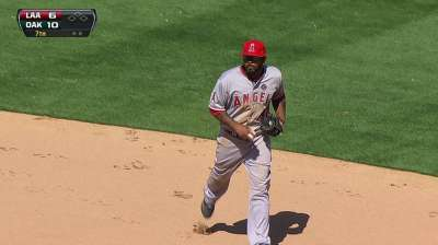 Angels unable to corral A's on difficult day