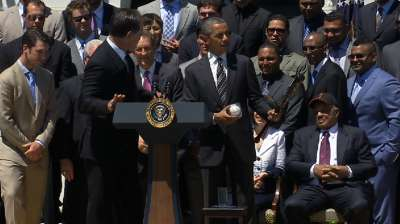 Giants' 2012 title honored at White House