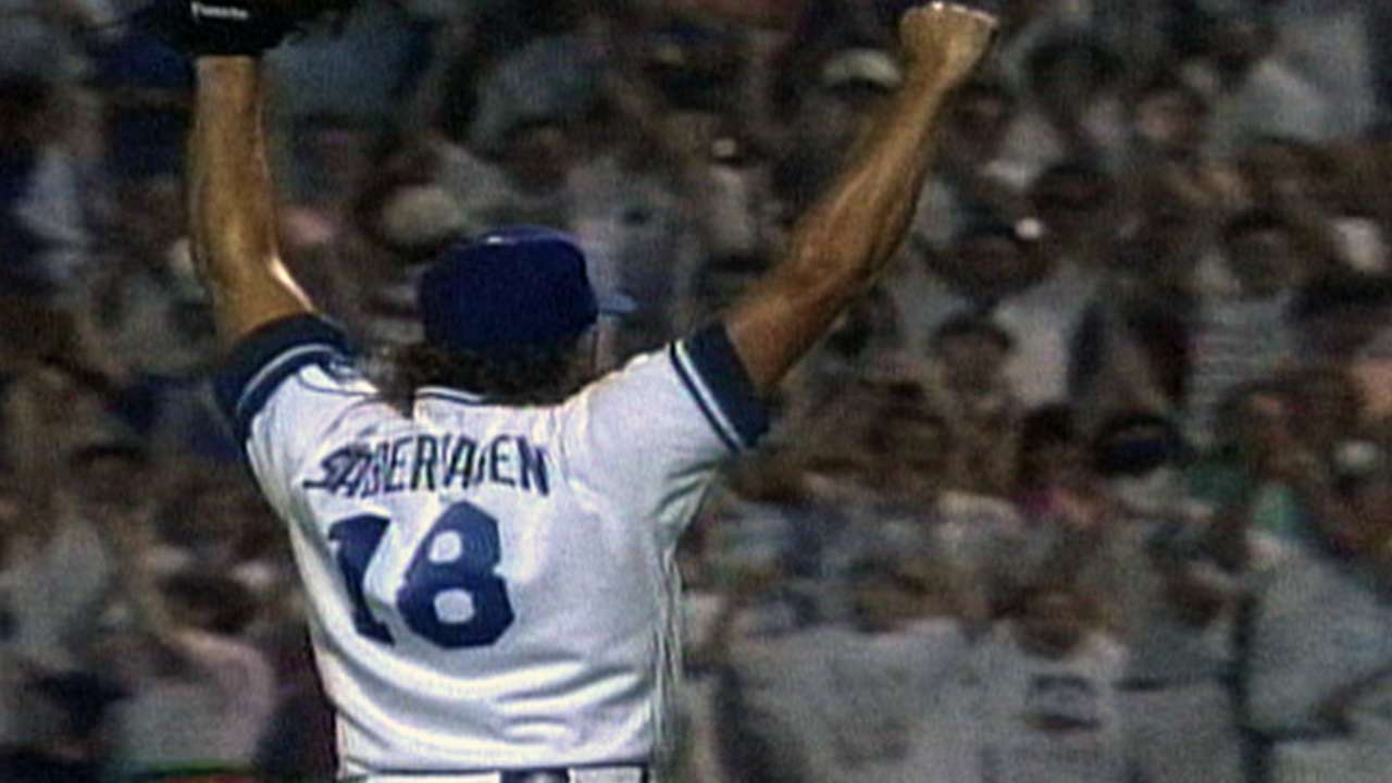 Saberhagen finishes no-hitter