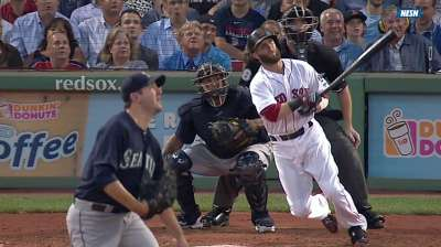 What slump? Pedroia halts slide with two-run homer
