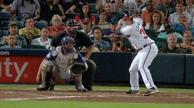 Cunningham singles in first Major League at-bat