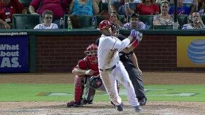 Andrus boasts hit streak, but lacks extra-base hits