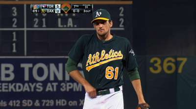 Otero earning trusted role in A's bullpen