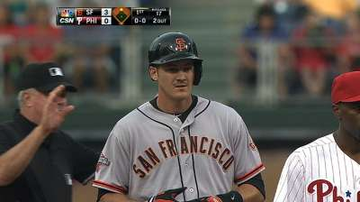 Giants could be open to Pill playing left field
