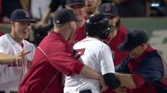 Red Sox's 10th walk-off win vaults them into first