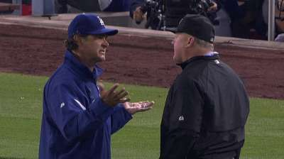 Mattingly ejected for arguing crucial call