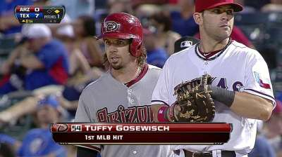 Gosewisch's nine years in Minors finally pays off