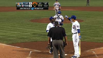 Lake, Rizzo each homer twice, but can't derail Dodgers