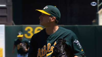 A's frustrate Garza with small ball, build lead in West