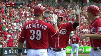 Leake's rocky start trips up Reds in finale