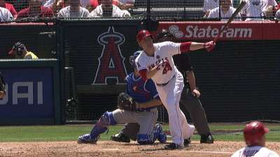 Trumbo making contact, but balls not falling in