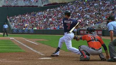 Mauer gets planned day off; Florimon returns