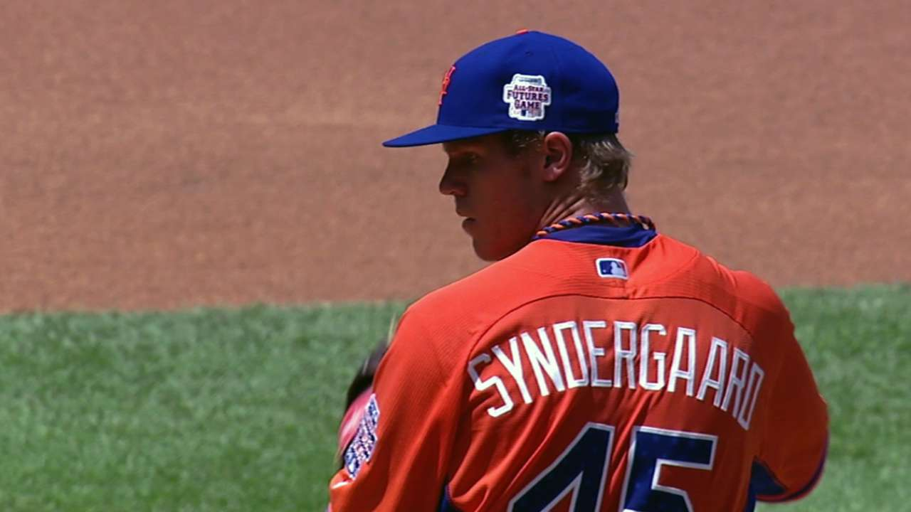 Syndergaard shakes off jitters, starts next step