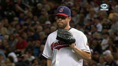 Sprained finger lands Kluber on disabled list
