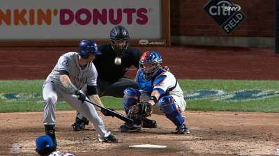 Home-plate umpire hit on jaw, exits Mets' tilt