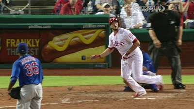 Ruf, Utley lead Phillies' charge against Cubs
