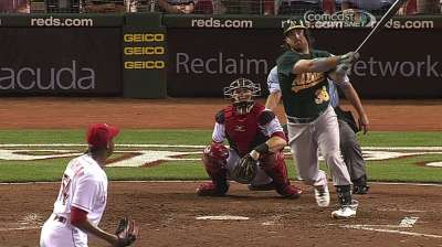 With Norris' sore back, A's have one healthy catcher