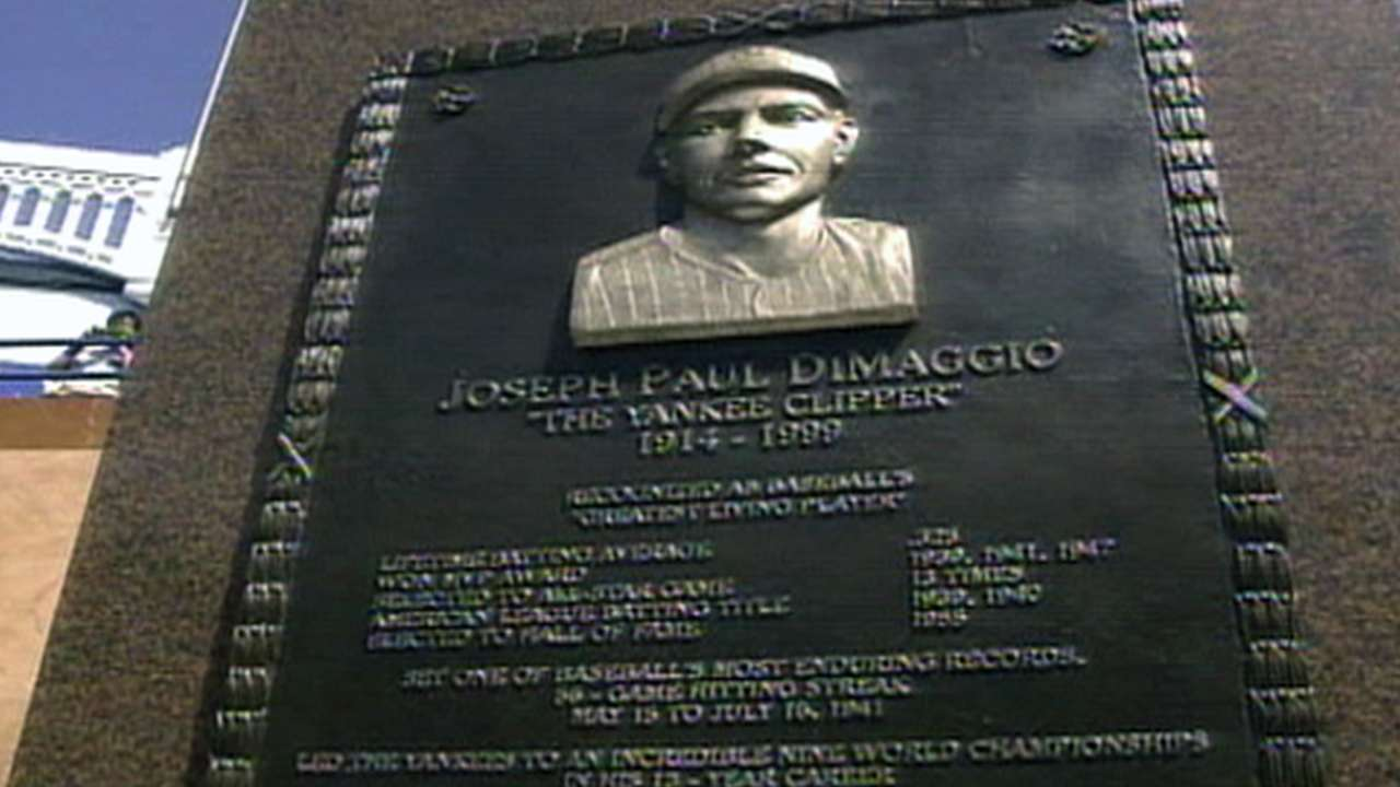 Joe DiMaggio monument unveiled