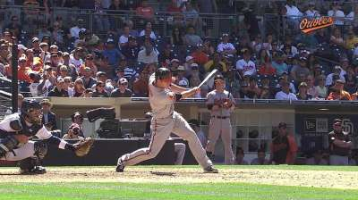 O's enjoy watching O'Day's first career at-bat