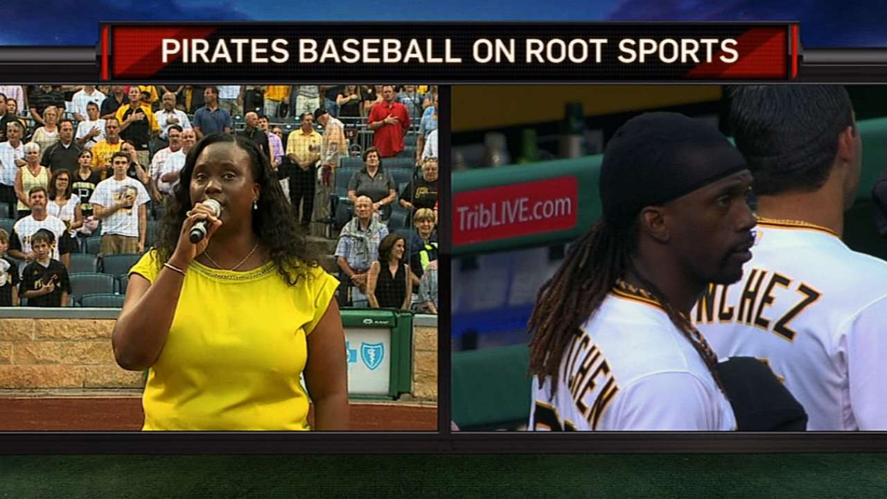 McCutchen on his mom's anthem