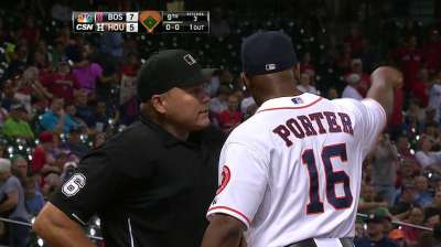 Arguing foul tip earns Porter first career ejection