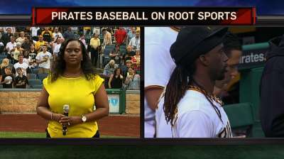 Mom belts out anthem; 'Cutch belts one out
