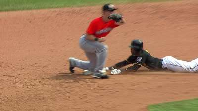 Marte could be pinch-runner upon return until healthy