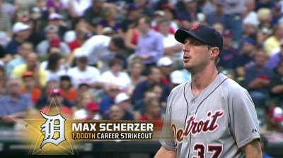 Scherzer in good company with 1,000th K