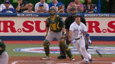 Lawrie catching fire at plate