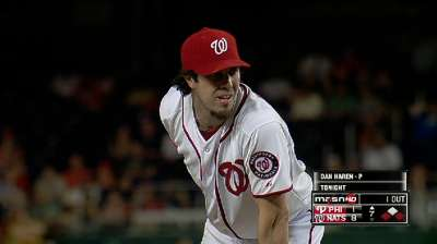 Haren 13th pitcher to beat all 30 MLB teams