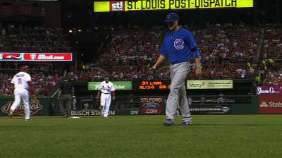Rusin, Cubs blank Cardinals to take opener