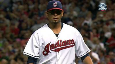 Indians option unavailable Carrasco to Triple-A