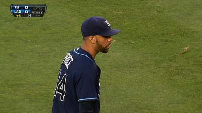 Bullpen misfires for Rays in Dodger Stadium debut