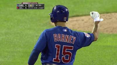 Barney holds Sveum's confidence in late at-bats