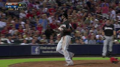 Marlins break through in ninth to end slide
