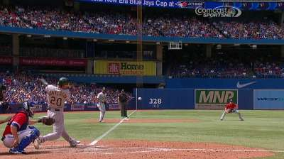 Donaldson gets DH nod, could catch if needed