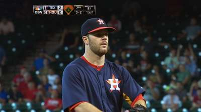 Keuchel pitches into ninth, but Astros fall