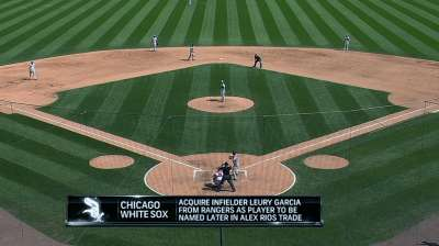 White Sox acquire L. Garcia from Rangers